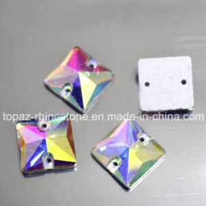 Square Sew on Rhinestone Crystal Ab for Dance Costume (SW-square 14mm) pictures & photos