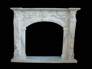 White Marble Fireplace (FRP531) pictures & photos