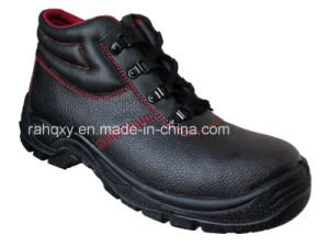 Hot Sold Red Lining MID-Cut Safety Shoes (HQ05031) pictures & photos