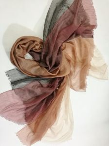 Chiffon Cashmere Wool Abcd Layers Shawl pictures & photos