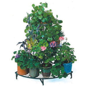 3-Tier Metal Corner Garden Potted Plant Shelf pictures & photos