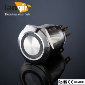 19mm Illuminated Anti Vandal Stainless Steel Switch (L19-F-M1-S-R) pictures & photos
