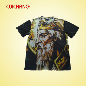 Wholesale Quality Custom All Over Polyester Dye Sublimation T-Shirt Printing pictures & photos