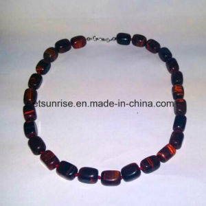 Semi Precious Stone Crystal Red Tiger Eye Jewelry Fashion Necklace (ESB01394) pictures & photos