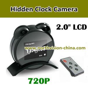 2.0 Inch Screen Night Vision 720p Clock Camera