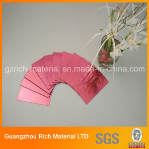 1-6mm Thickness Color Mirror Sheet/Acrylic PMMA Plastic Mirror Sheet pictures & photos