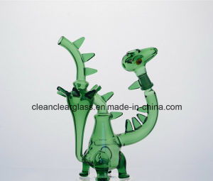 Ccg New Colored Dinosaur Shape Glass Water Pipe Smoking Pipe