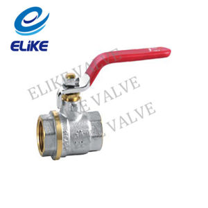 "1/2*3"" Nickel Coating Brass Ball Valve with Steel Handle"