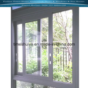 Aluminum Windows with Grey Color and Wooden Color pictures & photos