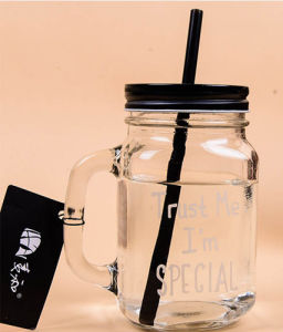 Decal Star Drinking Multi Colored Lid Straw Mason Jar pictures & photos
