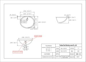 Wholesale Hot Sale Ceramic Cupc Oval Undermount Sink (SN007) pictures & photos