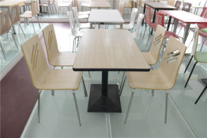 Hot Sale Wooden Restaurant Table and Chair (FOH-CXSC49) pictures & photos