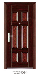 High Quality Security Door (WX-S-106-1) pictures & photos