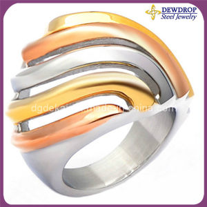Professional Design Ring Gold Metal Ring for Women (SSR3019)