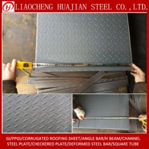 Black Color Mild Steel Checkered Plate for Building pictures & photos