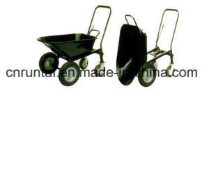 Four Wheels Industrial Heavy Duty Wheelbarrow pictures & photos