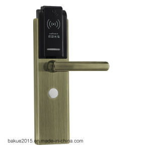 RFID Card Digital Door Lock Electronic Keyless Security Entry Door Lock Plated Antique Copper pictures & photos