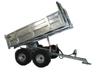 Hydraulic Tip Timber Trailer 4W-A08b for ATV pictures & photos