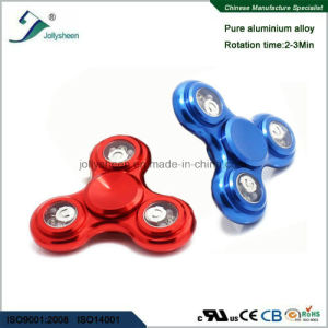 2017 New Model Wintersweet of Alloy Hand Spinner with Colorful LED Lights pictures & photos