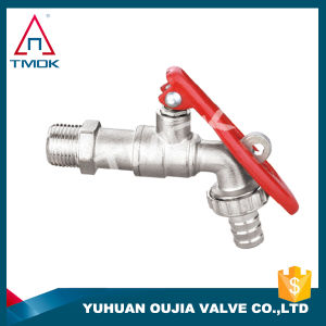 Brass Bibcock Tap with Nickel Plated Polishing with Forged Gas Valve and for Water Mini Brass Ball Valve PTFE with O-Ring