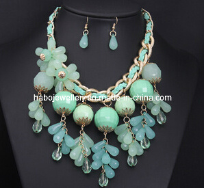 Blue Flower Necklace Set/Fashion Jewelry Set pictures & photos