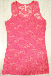 Women Fashion Clothes Sexy Nylon Lace Underwear Custom Tank Top pictures & photos