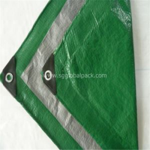 Green Silver Coated PE Tarpaulin for Truck Cover pictures & photos