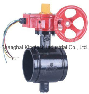 UL/FM Approval Grooved Butterfly Valve with Tamper Switch pictures & photos