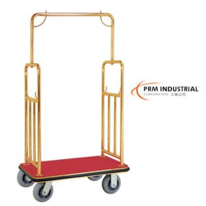 Loading with Stainless Steel Hotel Luggage Carts pictures & photos