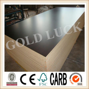 12mm Poplar Core Black Anti Slip Film Faced Plywood pictures & photos