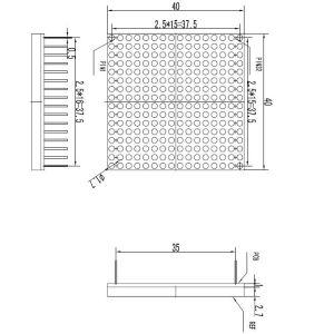 1.6 Inch 16X16 Single Color DIP LED DOT Matrix pictures & photos