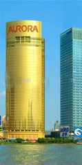 6mm Golden Reflective Glass for Window Glass
