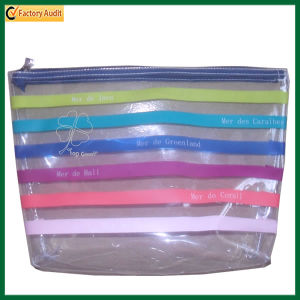 Wholesale Transparent PVC Zipper Cosmetic Bag (TP-COB004) pictures & photos