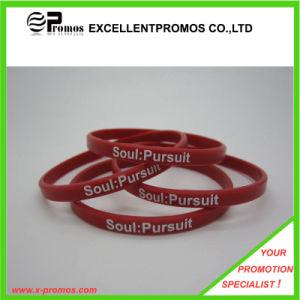 Logo Printed Custom Cheap Silicon Wristband (EP-B8313) pictures & photos