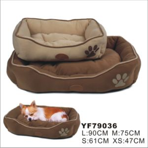 Suede Cheap Pet Bed for Dogs, Dog Supply (YF79036) pictures & photos