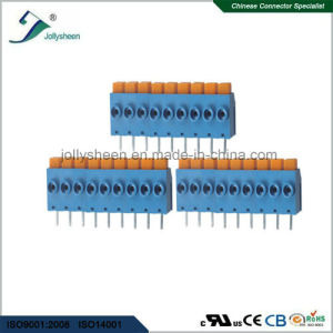 PCB Spring Terminal Block Connector pH5.0mm with Blue Housing pictures & photos