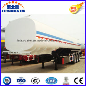 3 Axle 50cbm Carbon Steel Flammable Fuel/Oil/Diesel/Petrol/Crude Oil Utility Tanker with 4 Silo pictures & photos