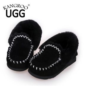 Classic Black Unisex Sheepskin Casual Indoor Home Shoes pictures & photos