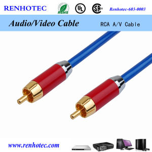 RCA Audio Video Cable Gold Plated Connector, RCA to RCA Cable pictures & photos