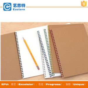A4 Size Custom Brown Kraft Paper Cover Spiral Notebook pictures & photos