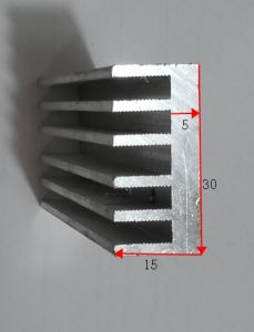 30mm Width Aluminum Profile Heat Sink 30mm*15mm Length Can Custom-Made pictures & photos