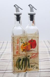 Vegetable Decal Glass Bottle of Glass Jar Glassware Kitchenware pictures & photos