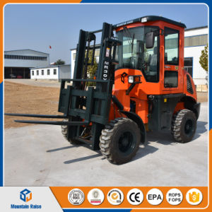 Low Price China 3m Lifting Height 3000kg Cross-Country Diesel Forklift pictures & photos