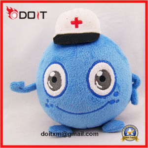 Hospital Mascot Blue Plush Stuffed Toy with Doctor Hat pictures & photos