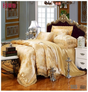 100% Cotton Jacquard Bedsheet Set pictures & photos
