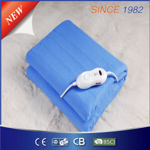Blue Single Electric Heated Blanket with Over Heat Protection pictures & photos