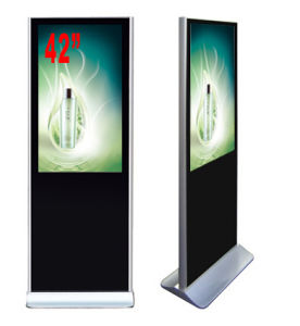 42-Inch LCD Advertising Player Floor Standing with Right Angle, Digital Signage pictures & photos