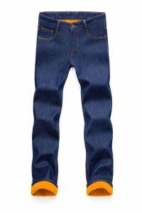 D821 Men Winter Trousers Warm Denim Jeans pictures & photos