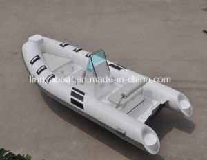 Liya 4.2m Sport Rigid Inflatable Boat Fishing Hypalon Boat Made in China pictures & photos