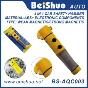 4 in 1 Auto Safety Emergency Hammer with Flashlight pictures & photos